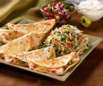 Shrimp and Habanero Quesadillas With Slaw And Salsa