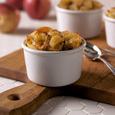 Apple-Cheddar Bread Pudding with Cabot 50% Reduced Fat Cheddar