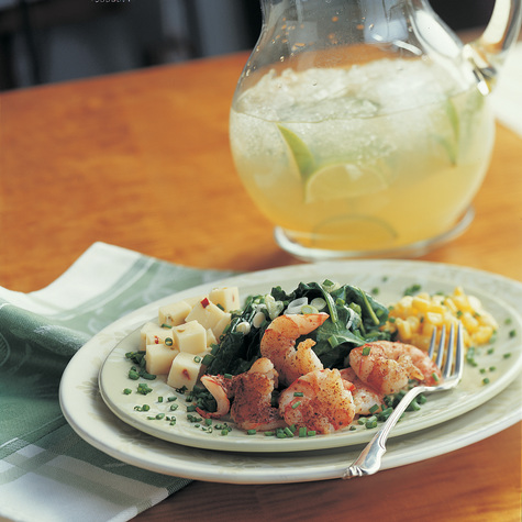 Spicy Shrimp and Cheddar Spinach Salad