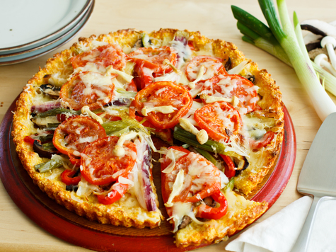 Vegetable Tart with Cheddar Cornmeal Crust