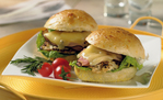 Rosemary-Grilled Chicken Breast Sandwiches with Cheddar & Black Forest Ham
