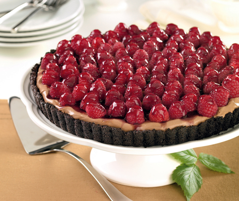 Espresso Tart with Raspberries