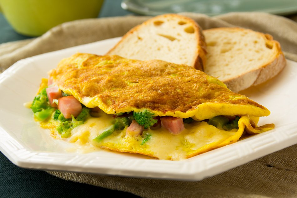 Egg omelet with broccoli and cheddar 3 pts recipes dishmaps