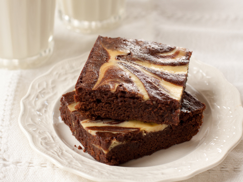 Cream Cheese Marbled Chocolate Brownies