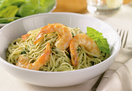 Pesto Pasta with sautéd Shrimp