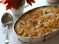 Scalloped Potatoes with Greek Yogurt and Cheddar