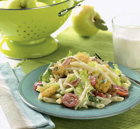 Cheesy BLT Pasta Salad with Cabot 75% or 50% Reduced Fat Sharp Cheddar