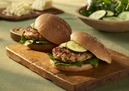 Cabot Chicken Burgers with Cabot Buffalo Wing Cheddar Cheese