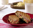 Grilled Cabot Cheddar & Roasted Red Pepper Sandwiches
