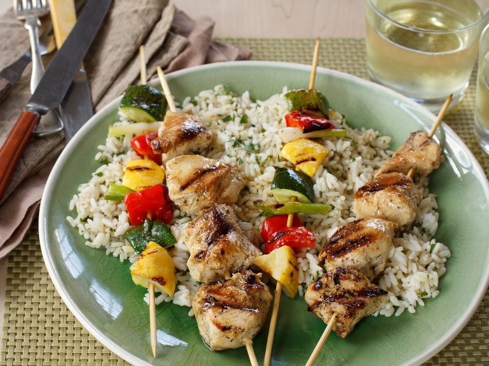 Grilled Chicken & Vegetable Kabobs