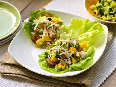Asian Chicken & Cheddar Lettuce Wraps with Cabot Sharp Cheddar