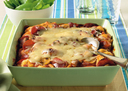 Ham and Mushroom Pizza Bake with Cabot Cheddar