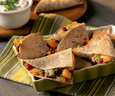 Cheesy Black Bean Triangles