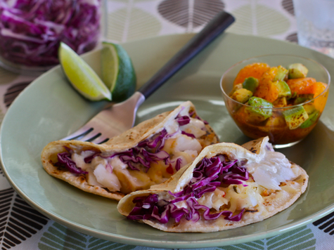 Fish Tacos with Mandarin-Avocado Salsa