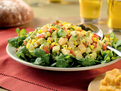 Southwestern Corn, Avocado and Hot Buffalo Wing Cheddar Salad