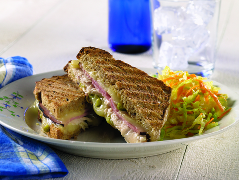 Cuban-Style Grilled Cheese Sandwiches