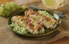 Cheesy Chicken Enchiladas with Cabot Sharp Extra Light Cheddar