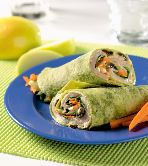 Curried Turkey Lunchtime Wraps