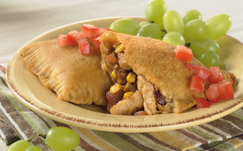 Double-Duty Chicken Pizza Pockets with Cabot Reduced Fat Cheddar