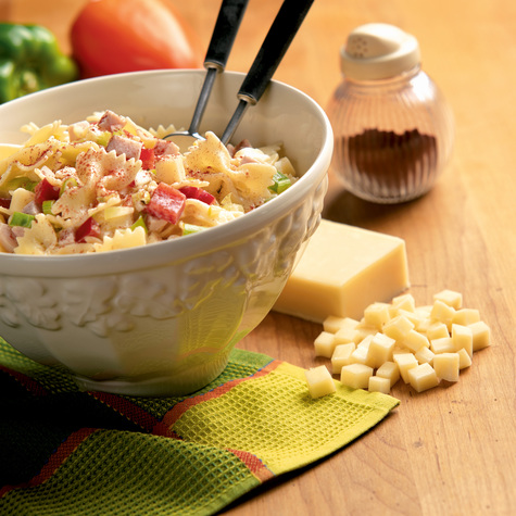 Bow Tie Pasta Salad with Cabot  Reduced Fat Cheddar