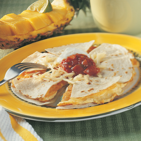 Breakfast Quesadilla recipe with Cabot  Reduced Fat Jalapeno Cheddar