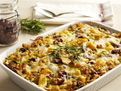 Tart Cherry & Vegetable Bread Pudding