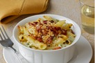 Garganelli Mac 'n Cheese with Roasted Jalapenos & Bacon