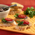 Black Bean Bruschetta with Cabot Sharp Light Cheddar