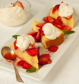 Cornmeal Cake with Strawberries & Whipped Yogurt Cream
